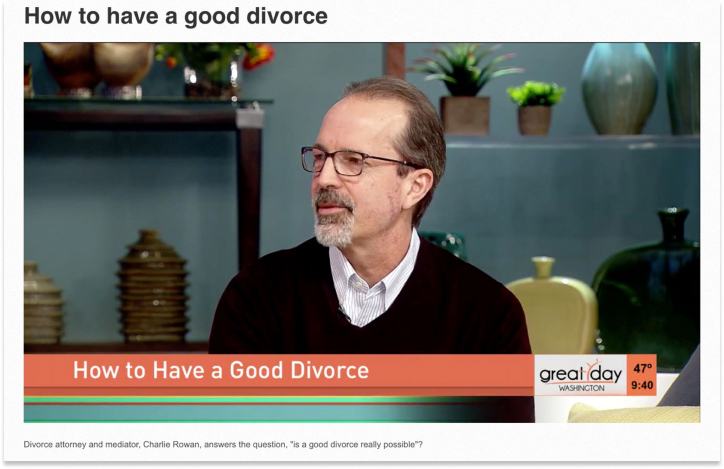 Carlie Rowan video disucssing how to have a good divorce